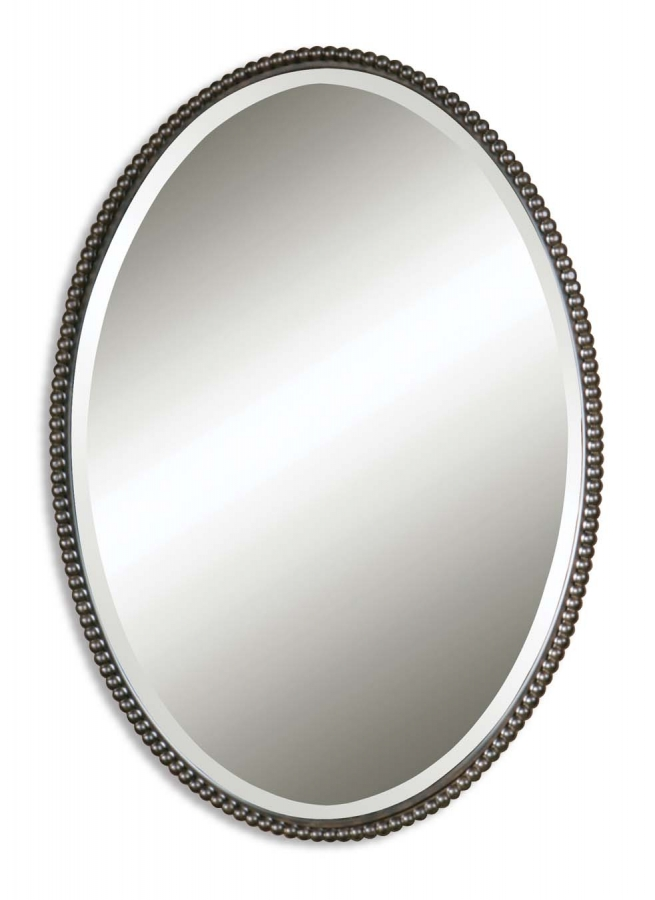 Sherise distressed oil rubbed bronze oval mirror uvu01101b Oval bathroom mirrors oil rubbed bronze