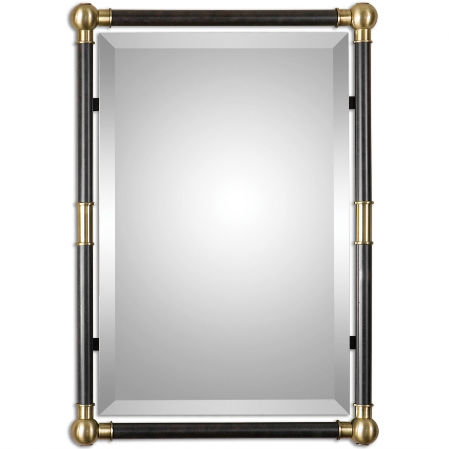 Rondure Bronze Metal Rectangular Wall Mirror Uvu01131