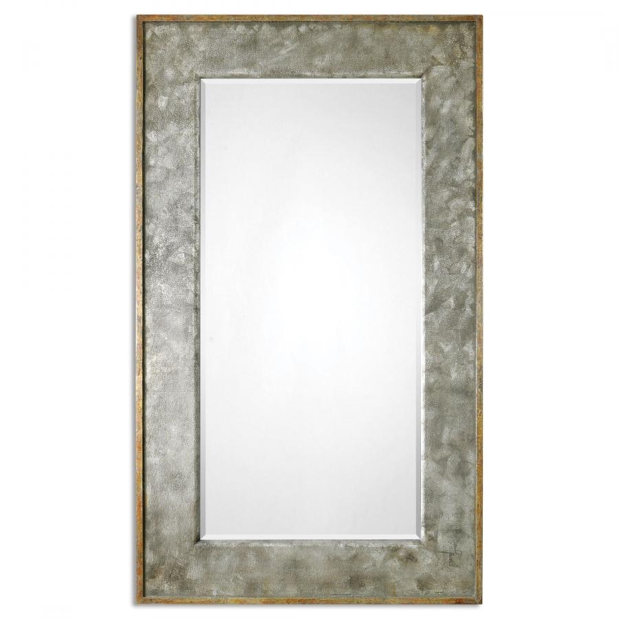 Leron Distressed Bronze Rectangular Mirror Uvu07691