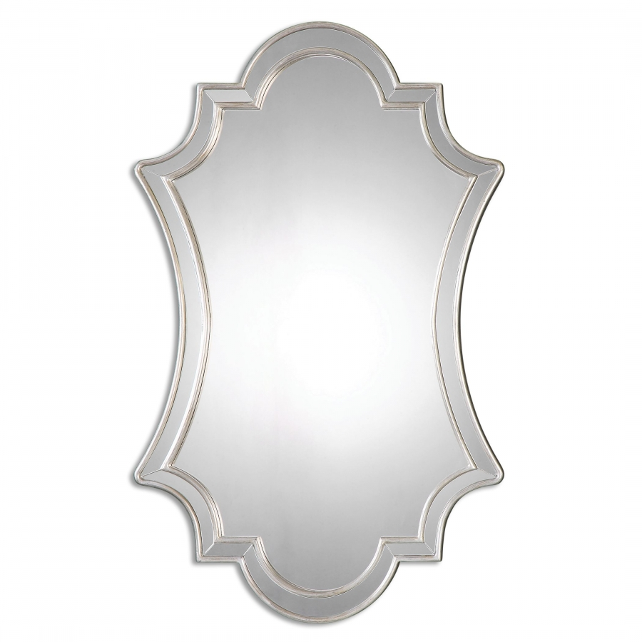 Elara Antiqued Silver Unique Wall Mirror Uvu08134