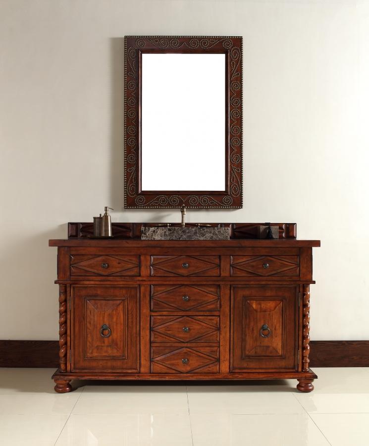 60 inch single sink bathroom vanity with hideaway tip out drawers