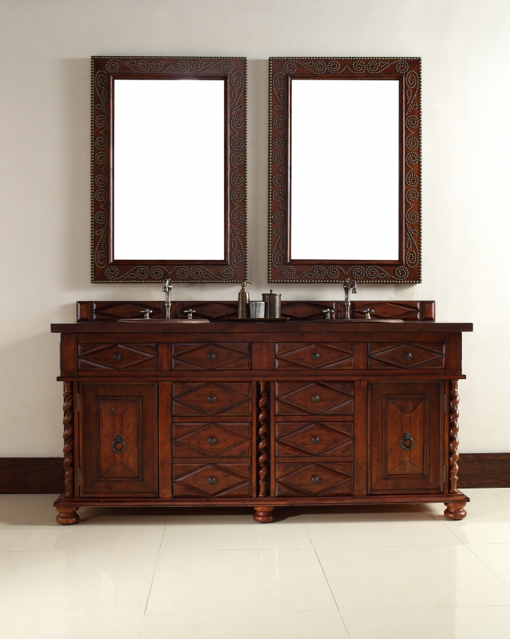 72 Inch Double Sink Bathroom Vanity With Eight Drawers
