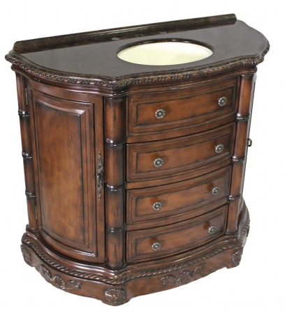 42 inch antiqued brown single sink vanity cabinet uvcdb1171s42