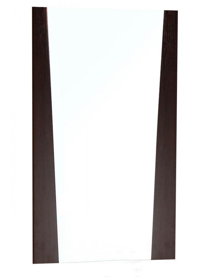Vee rectangular wenge mirror uvai11184 for Miroir wenge