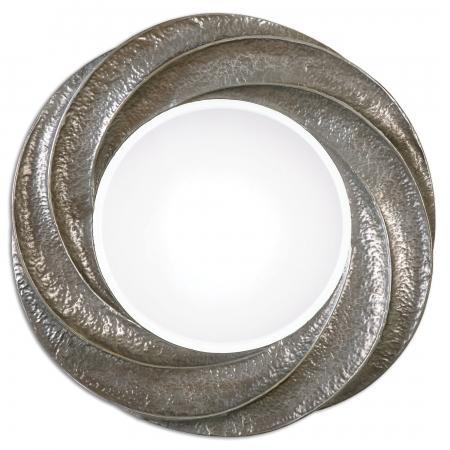 Spiraali round silver wall mirror uvu12922 for Round silver wall mirror