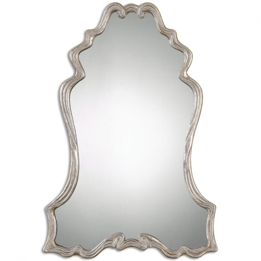 Andria Silver Leaf Unique Mirror Uvu12923