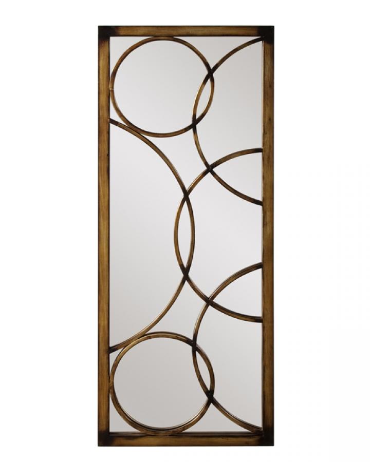 Brittany Rectangular Antique Bronze Metal Frame Mirror Uvhe13225