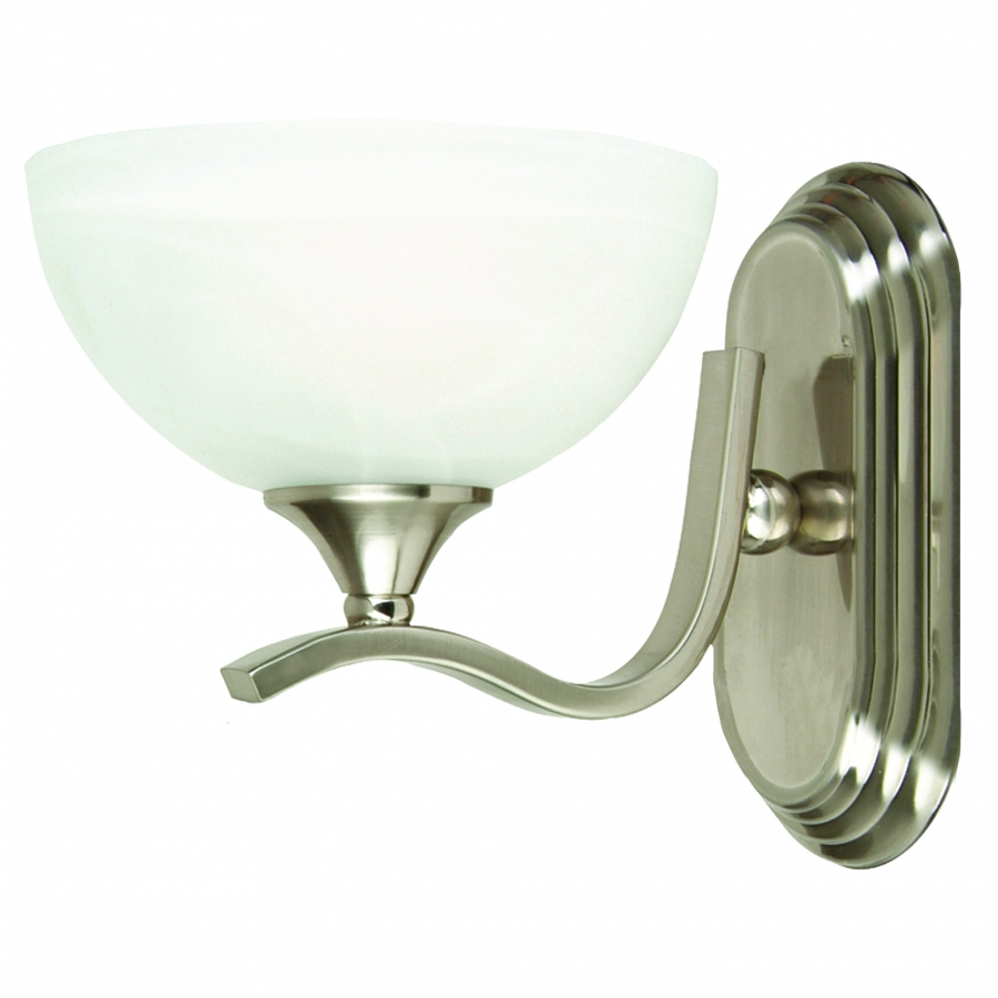 Vanity Lights Satin Nickel : 1 Light Vanity Lighting in Satin Nickel UVYHD1391SN