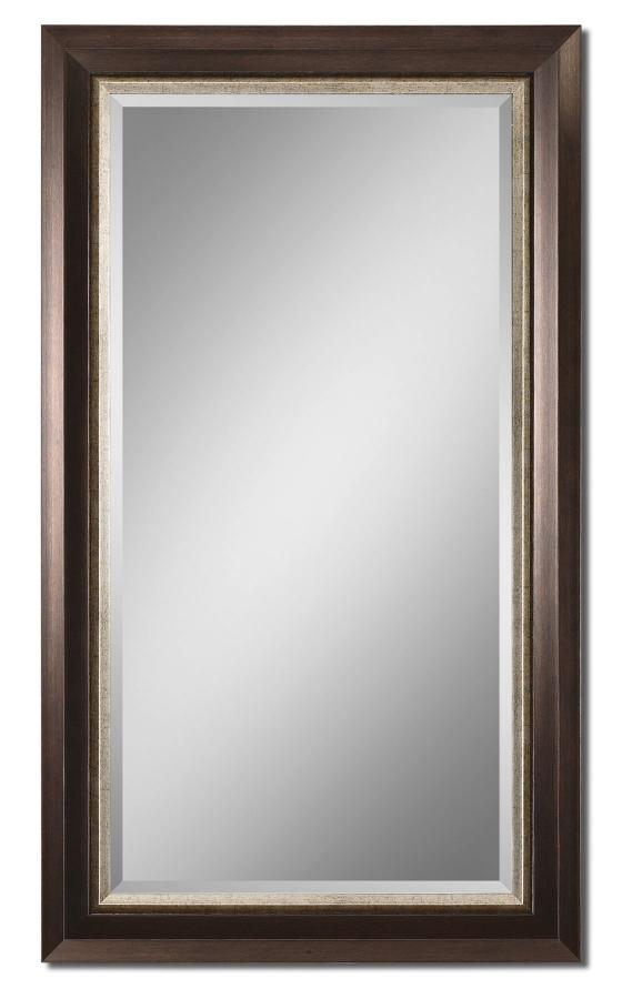 Blaisdell Rectangular Distressed Espresso Bronze Mirror
