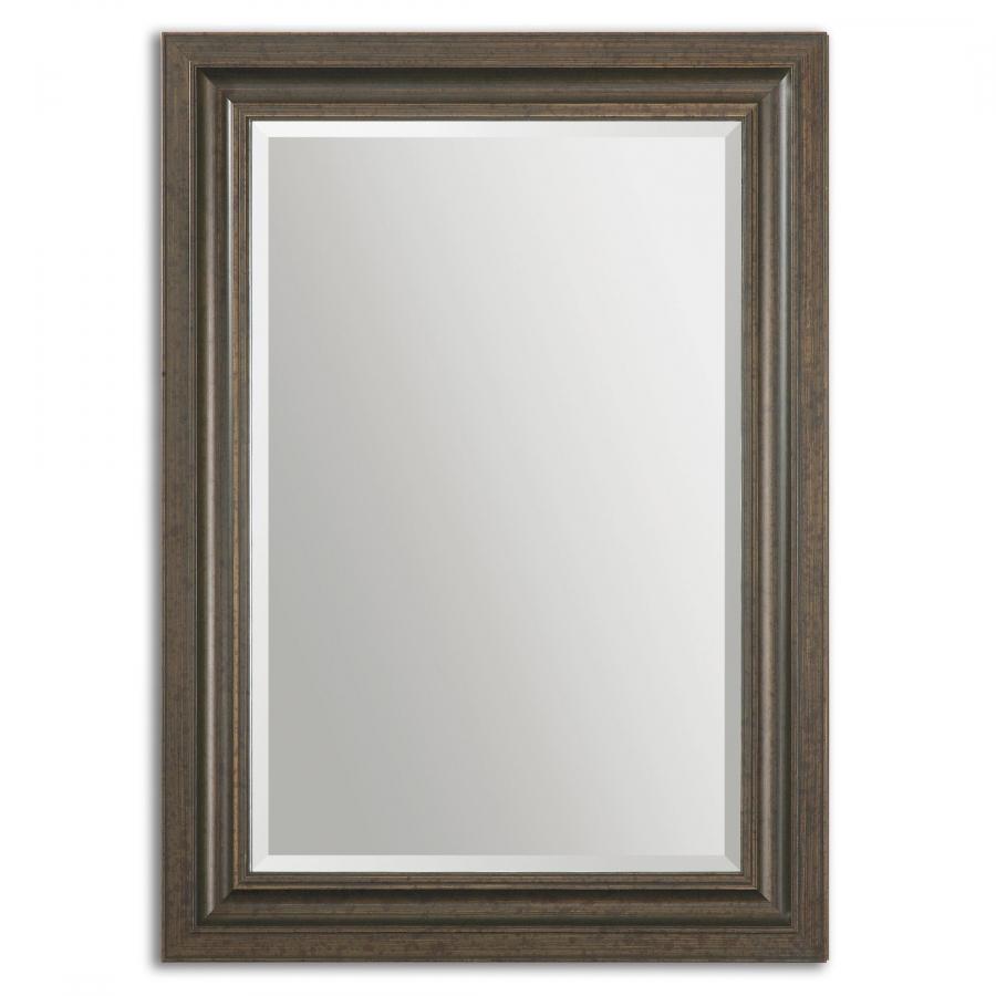 Adalwin lightly distressed dark bronze rectangular mirror for Bronze mirror