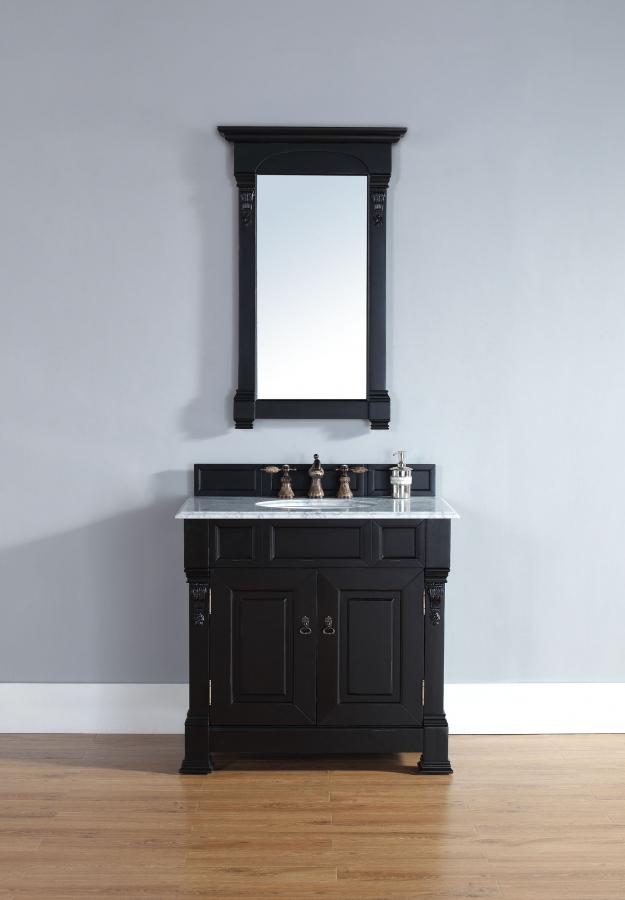 36 Bathroom Vanity Long Island Ny: 36 Inch Single Sink Bathroom Vanity In Antique Black