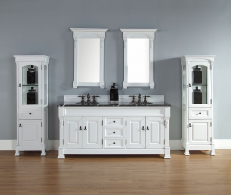 Scratch And Dent 72 Inch Double Sink Bathroom Vanity In Antique White  CLRUVJMF147114574172