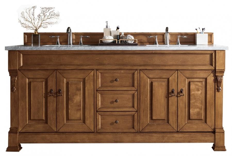 72 Inch Oak Double Sink Bathroom Vanity Custom Options