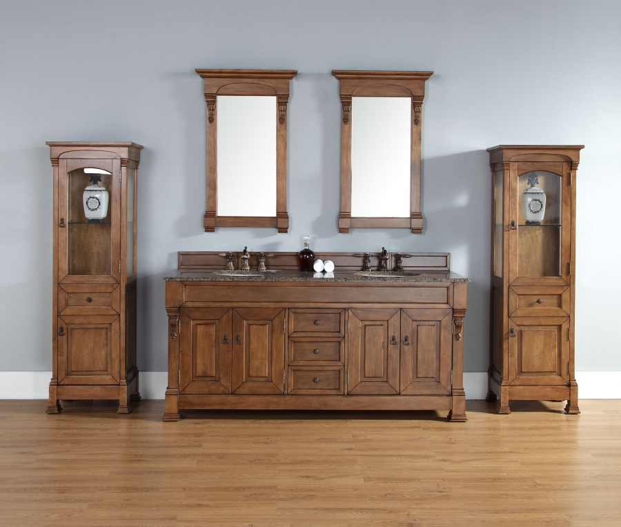 72 Inch Oak Double Sink Bathroom Vanity Custom Options