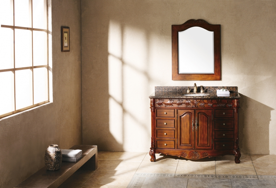 48 Inch Single Sink Bathroom Vanity With Dovetailed