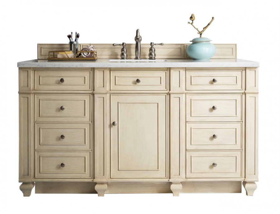 60 Inch Single Sink Bathroom Vanity In Vintage White