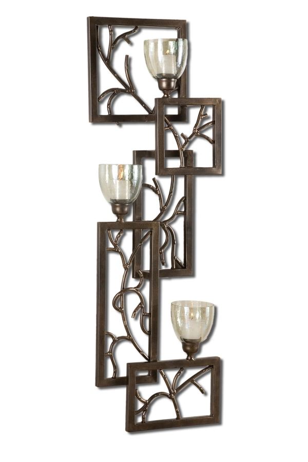 Iron Candle Holder Wall Sconce : Iron Branches Candle Wall Sconce UVU19736