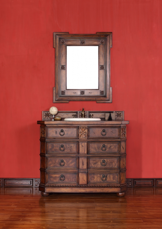 42 Inch Single Sink Bathroom Vanity With Clipped Corner