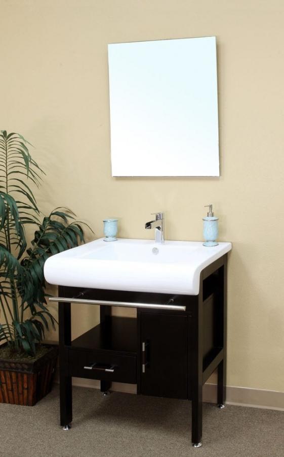 28 Inch Single Sink Bathroom Vanity in Dark Espresso ...