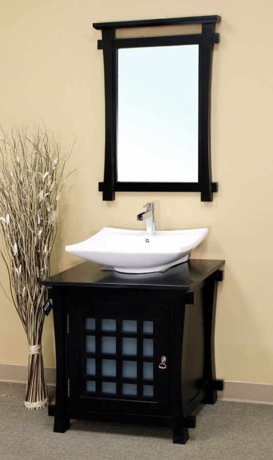 30 Inch Single Sink Bathroom Vanity In Black