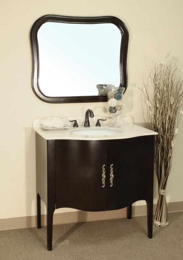 37 inch single sink bathroom vanity in medium espresso