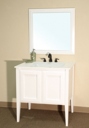 34 Inch Single Sink Bathroom Vanity In White Uvbh20305434
