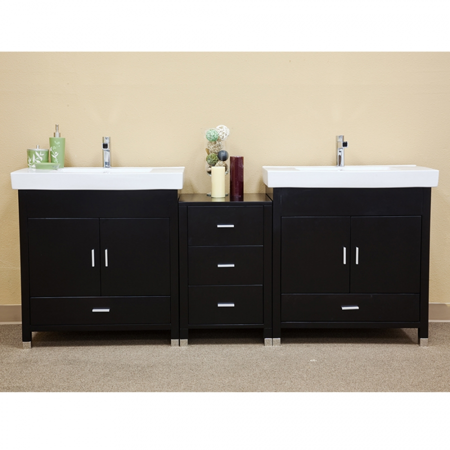 double bathroom sink vanity.  Double Sink Bathroom Vanity in Black Loading zoom 81 Inch UVBH203107D81
