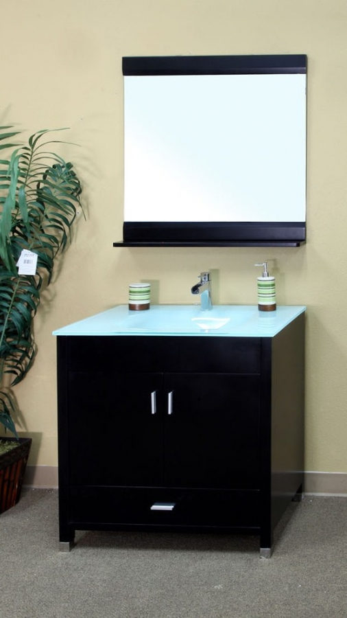 Inch Single Sink Bathroom Vanity In Black UVBH - 33 inch bathroom vanity