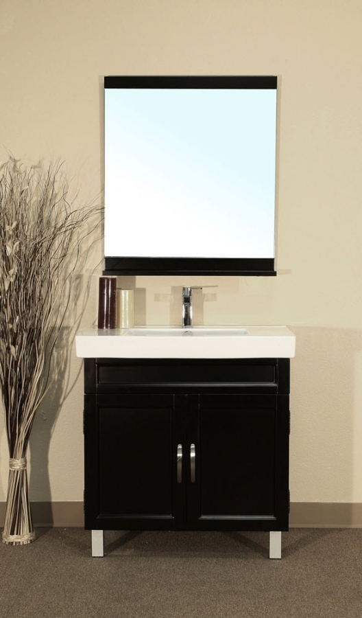 32 Inch Single Sink Bathroom Vanity In Black Uvbh20313132