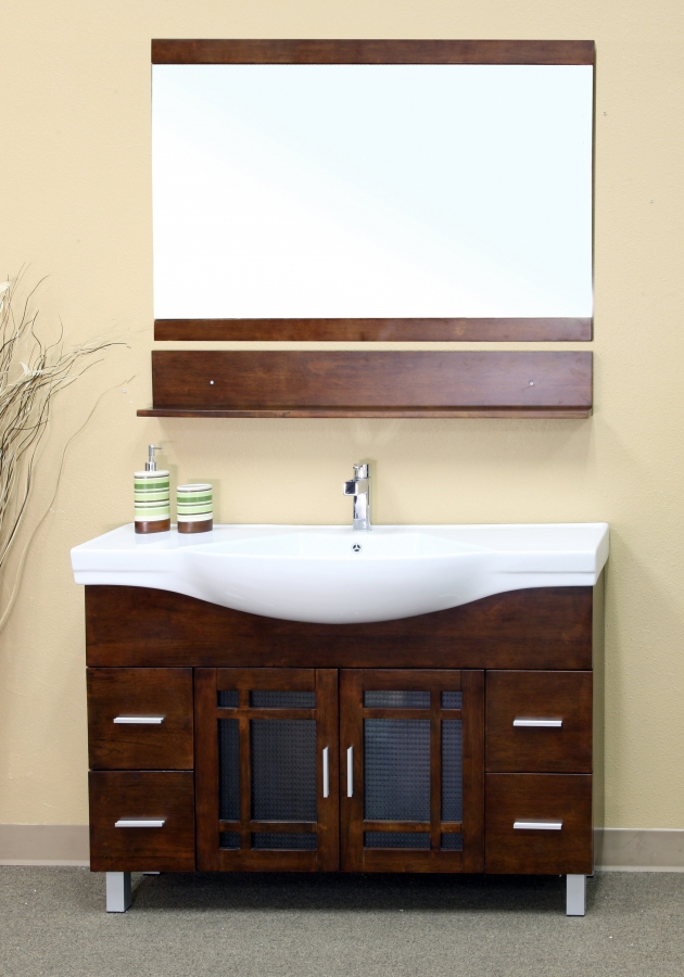 48 Inch Single Sink Bathroom Vanity in Medium Walnut UVBH20313848  Single Sink Bathroom Vanity on martha stewart seal harbor bathroom vanity, 48 single bathroom vanities, french provincial bathroom vanity, 30 inch bathroom vanity, bathroom cabinets over vanity, 24 inch sink vanity, sheffield bathroom vanity, 60 inch single bathroom vanity, white single sink vanity, dresser bathroom vanity, diy pallet bathroom vanity, sale home depot bathroom vanity, single basin bathroom vanity, mocha bathroom vanity, cheap single bathroom vanity, long single sink vanity, distressed cream bathroom vanity, trough sinks bathroom vanity, lowe's unfinished bathroom vanity, 40 bathroom vanity,