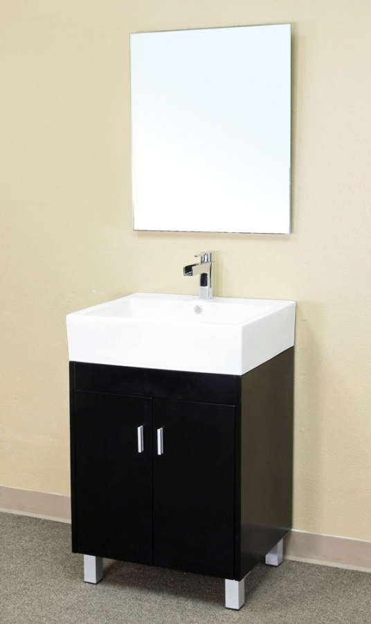 23 Inch Single Sink Bathroom Vanity In Dark Espresso