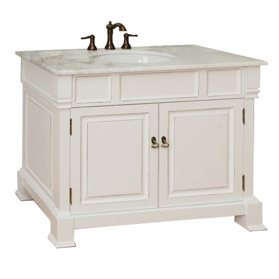 42 inch single sink bath vanity in white uvbh205042wh42 - Lowes single sink bathroom vanity ...
