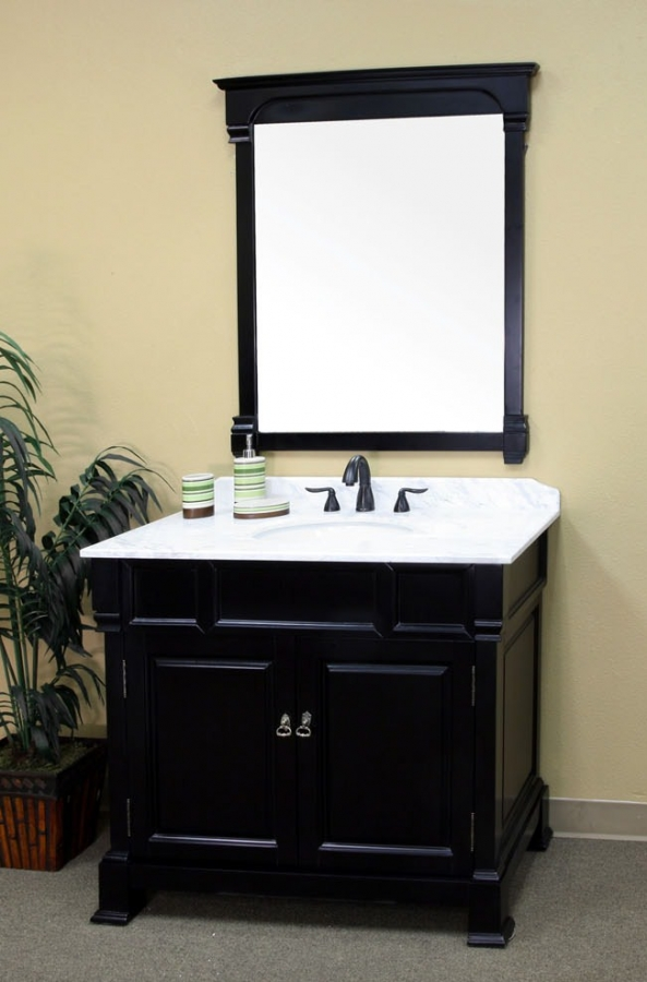 42 Inch Single Sink Bathroom Vanity In Dark Espresso