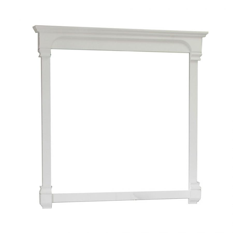 Rectangular Solid Wood White Frame Mirror UVBH205050MWH