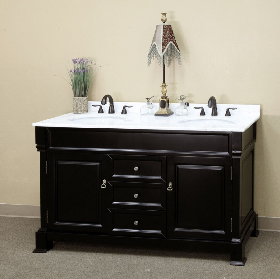 inch double sink bathroom vanity with open shelves uvdedecb, Bathroom decor