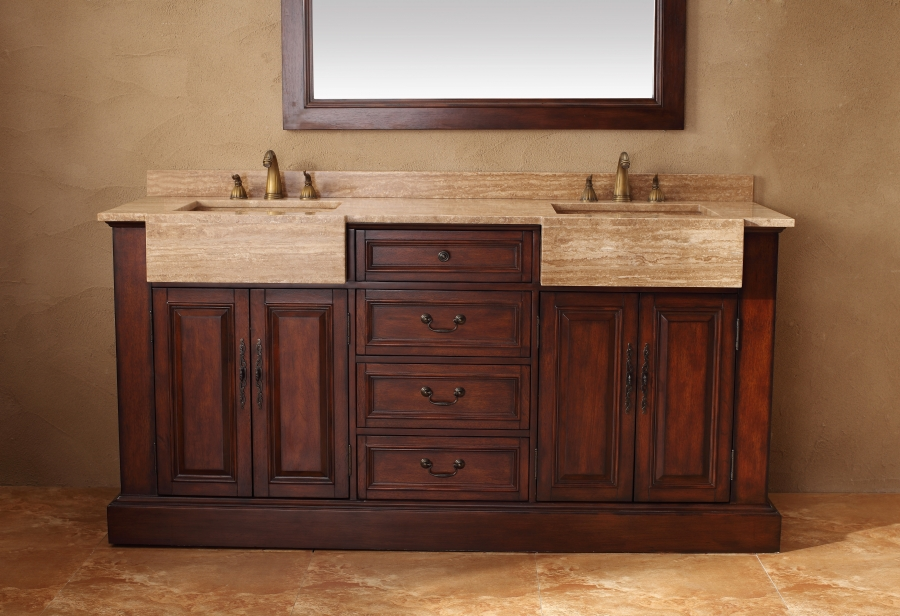 Scratch and dent 72 inch double sink bathroom vanity in cherry clruvjmf206001552572 for 72 inch bathroom vanity double sink