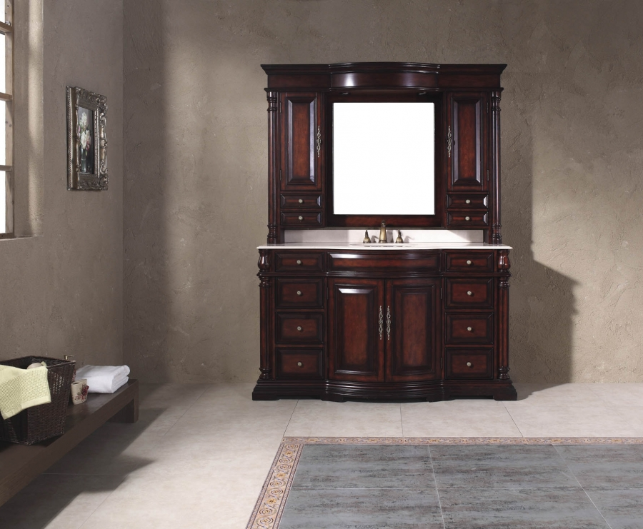 Inch single sink bathroom vanity with eight drawers - 66 inch bathroom vanity single sink ...