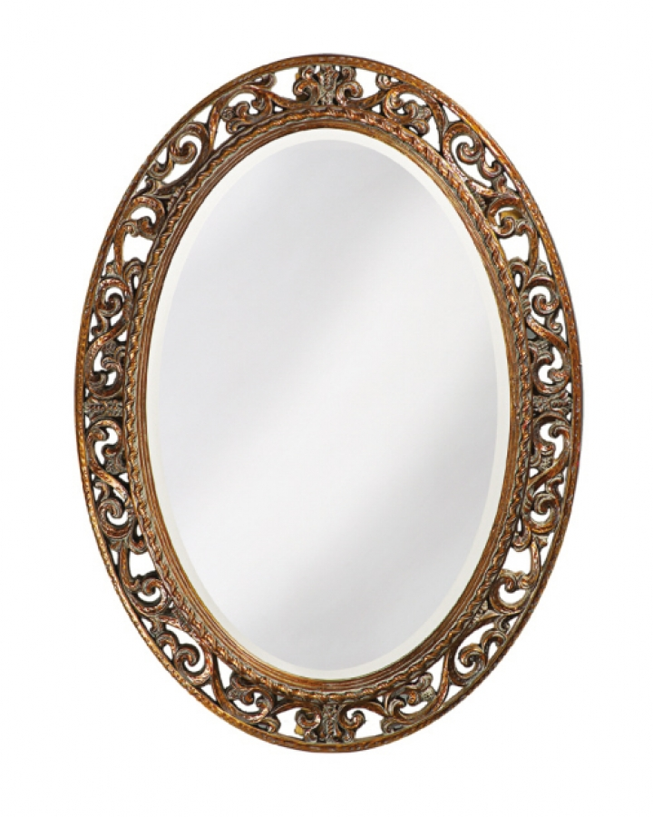 Suzanne Oval Mirror with Antique Bronze Finish