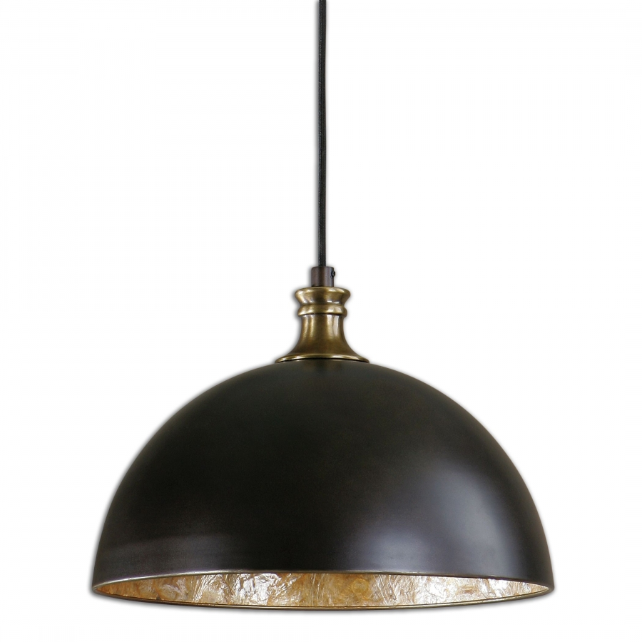 Placuna 1 Light Bronze With Brass Pendant UVU22028