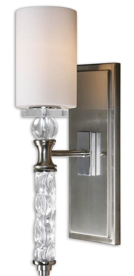 1 Light Wall Sconce In Brushed Nickel Uvu22486