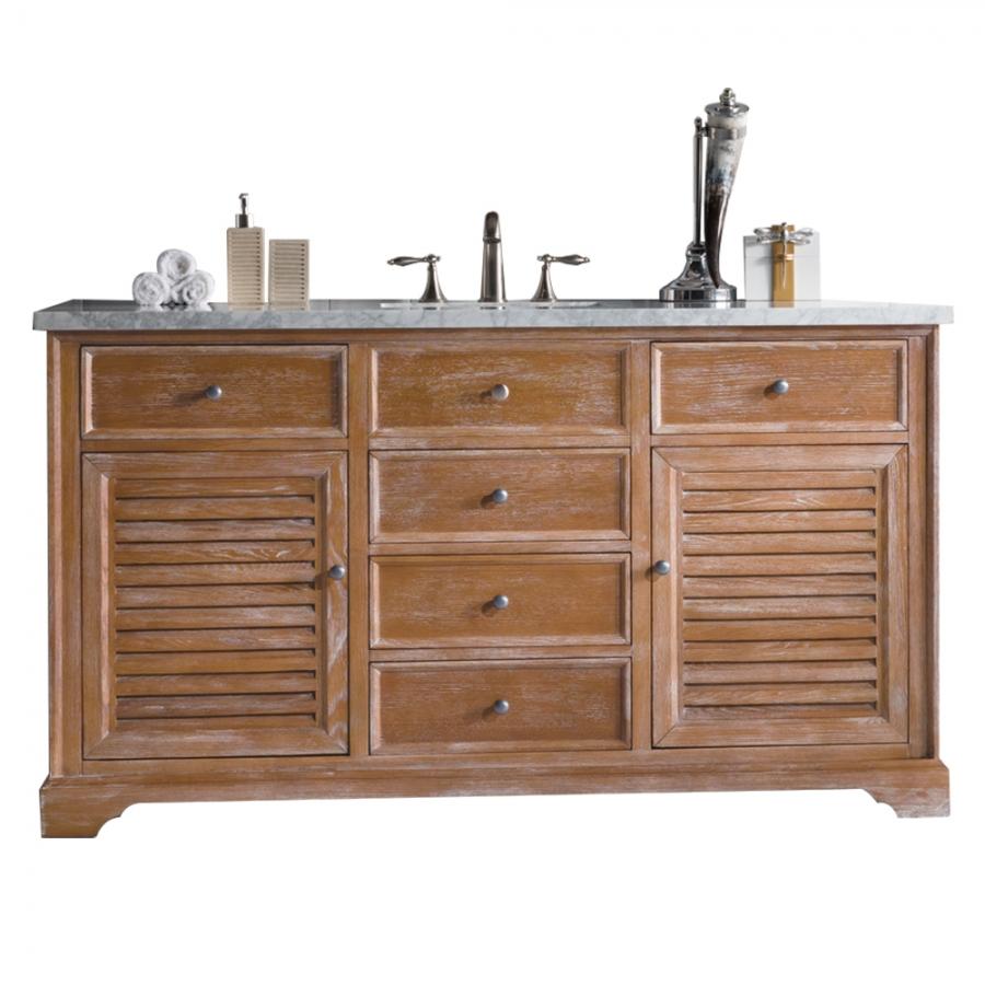 60 Inch Large Single Sink Bathroom Vanity Driftwood Finish