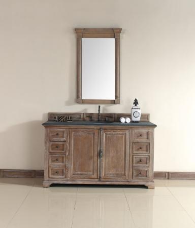 60 inch single sink bathroom vanity in driftwood finish - 60 inch bathroom cabinet single sink ...