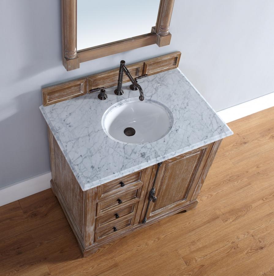 36 Inch Single Sink Bathroom Vanity in Driftwood Finish ...