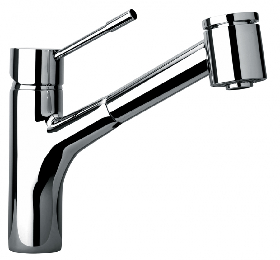 single hole kitchen faucet with pull out spray head uvjfc25576