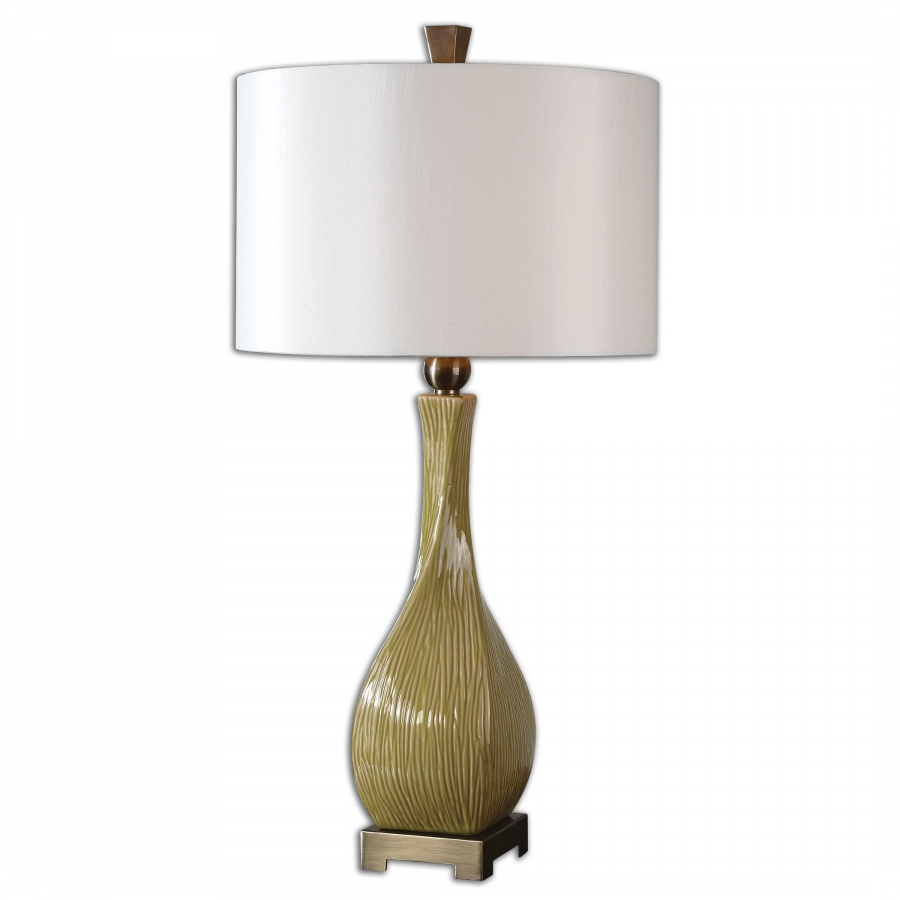 valsinni crackled yellow ceramic table lamp uvu26493