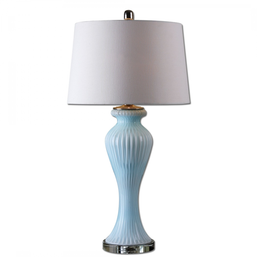 Benissa Pale Blue Glass Table Lamp UVU27467