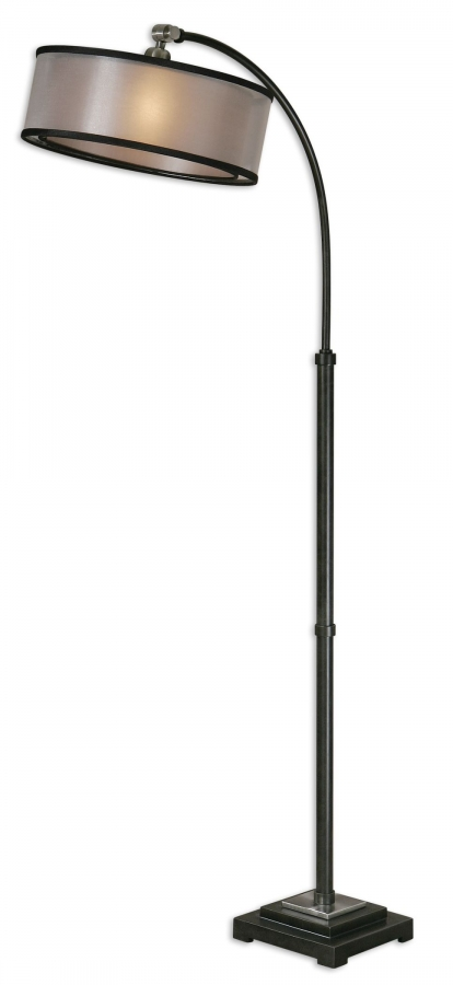 worland matte black arc floor lamp uvu28591. Black Bedroom Furniture Sets. Home Design Ideas