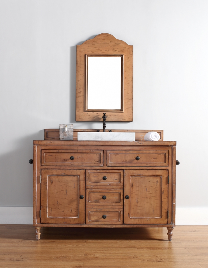 48 Inch Single Sink Bathroom Vanity In Driftwood Patina Uvjmf300v48drp48