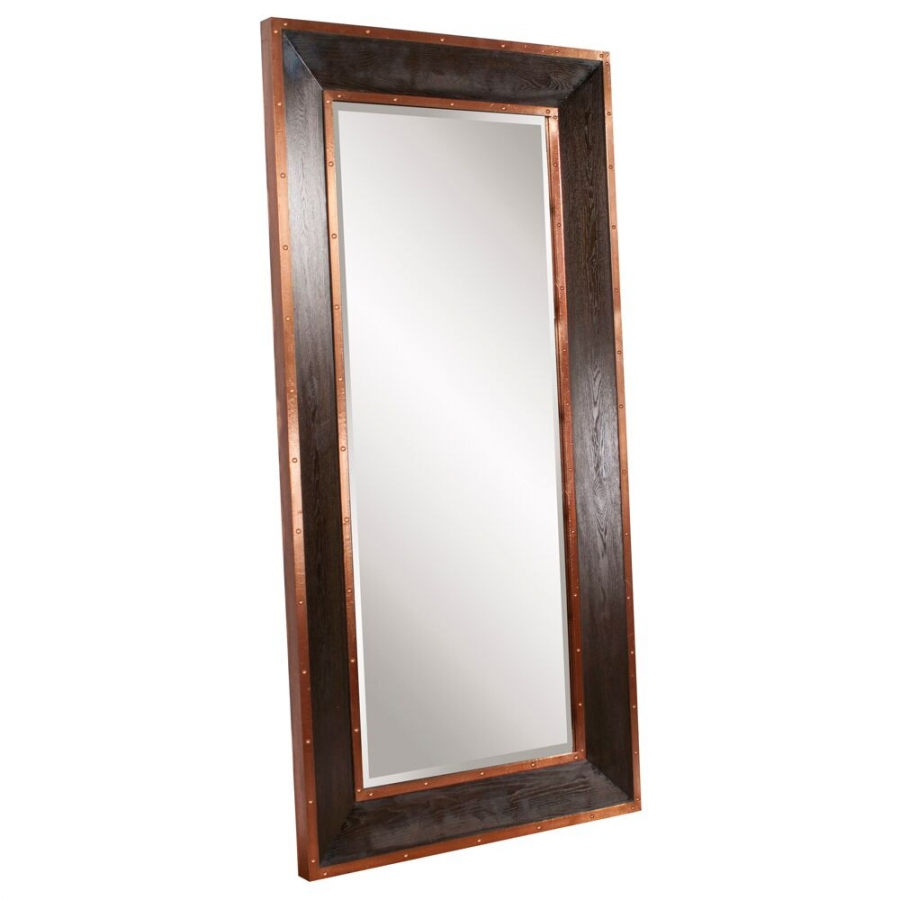Blaze walnut leaner mirror uvhe37167 for Leaner mirror