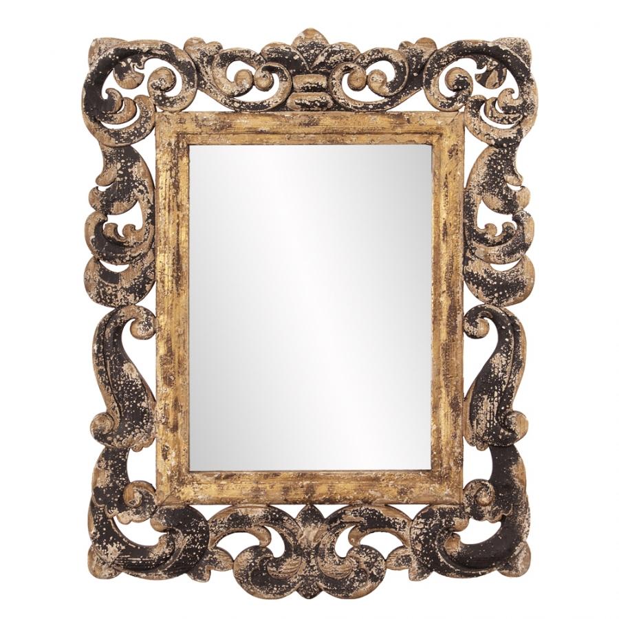 Isaac rustic wood rectangular mirror uvhe39013